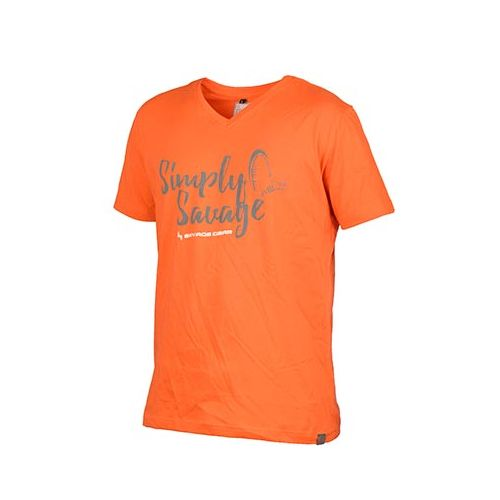 Savage Gear Simply Savage V-neck Tee Orange S